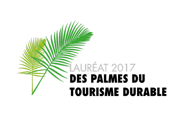 Lauréat 2017 des palmes du tourisme durable